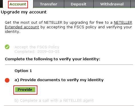 Верификация на сметка в Нетелър