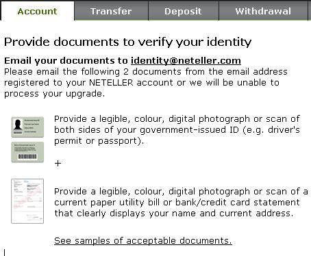 Документи необходими за верификацията на сметка в Нетелър